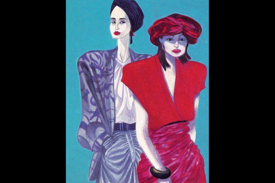 Il a œuvré dans les années 80, au temps où les mannequins étaient au top, où leur forte personnalité volait la vedette aux vêtements, disait-on. On ne les appelait que par leur prénom: Cindy, Christy, Linda, Naomi, Helena, Khadija, Renée, Tatiana… C'était alors une source fantastique pour les emportements d'un illustrateur comme Mattotti: ses lignes ont une folle expressivité. «Aujourd'hui, les mannequins sont de petites filles interchangeables, regrette-t-il. Il faut laisser la priorité au vêtement.» Priorité au marketing, surtout, qui nivelle les images pour les rendre accessibles à un goût standard planétaire… Quelle misère.