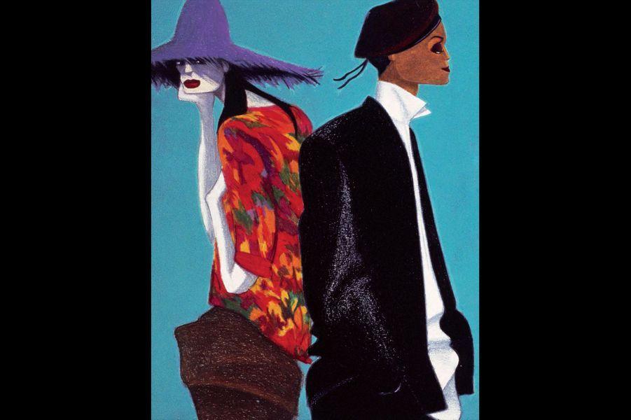 «Je ne connaissais rien à la mode quand j'ai commencé, je ne savais même pas que j'étais capable de faire des dessins de mode!» Lorenzo Mattotti vit pourtant de ses pinceaux depuis plus de trente ans. Et c'est la mode qui a fait sa gloire. Son album «Works, mode» (éd. Casterman) est un éblouissement, un chatoiement de couleurs et de superbes compositions.Découvrez son histoire au fil des photos que voici.