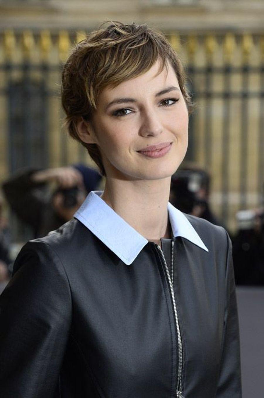 Louise Bourgoin au défilé Dior à Paris, le 6 mars 2015