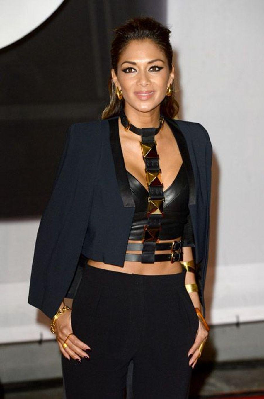 La chanteuse américaine Nicole Scherzinger lors de la soirée des Brit Awards à Londres, le 19 février 2014
