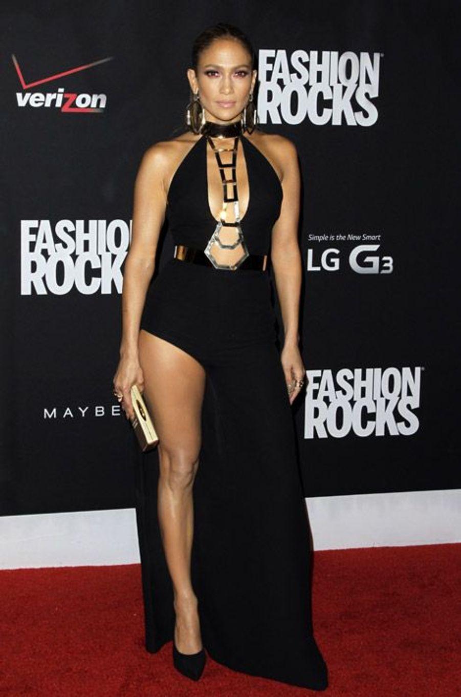 La chanteuse Jennifer Lopez lors de la soirée Fashion Rocks, à New York, le 9 septembre 2014