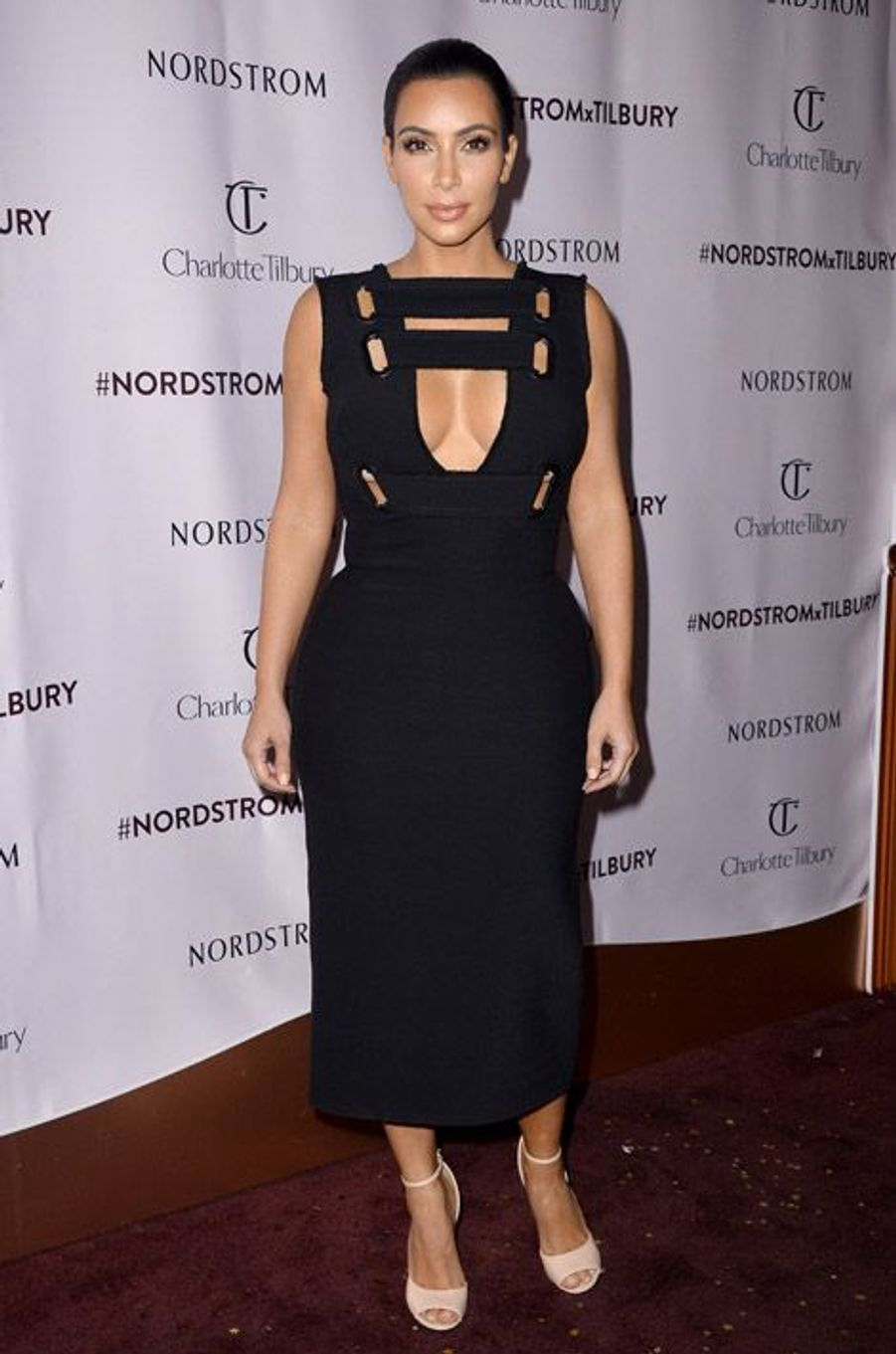 La star de la téléréalité, Kim Kardashian, lors d'une soirée à Los Angeles, le 9 octobre 2014
