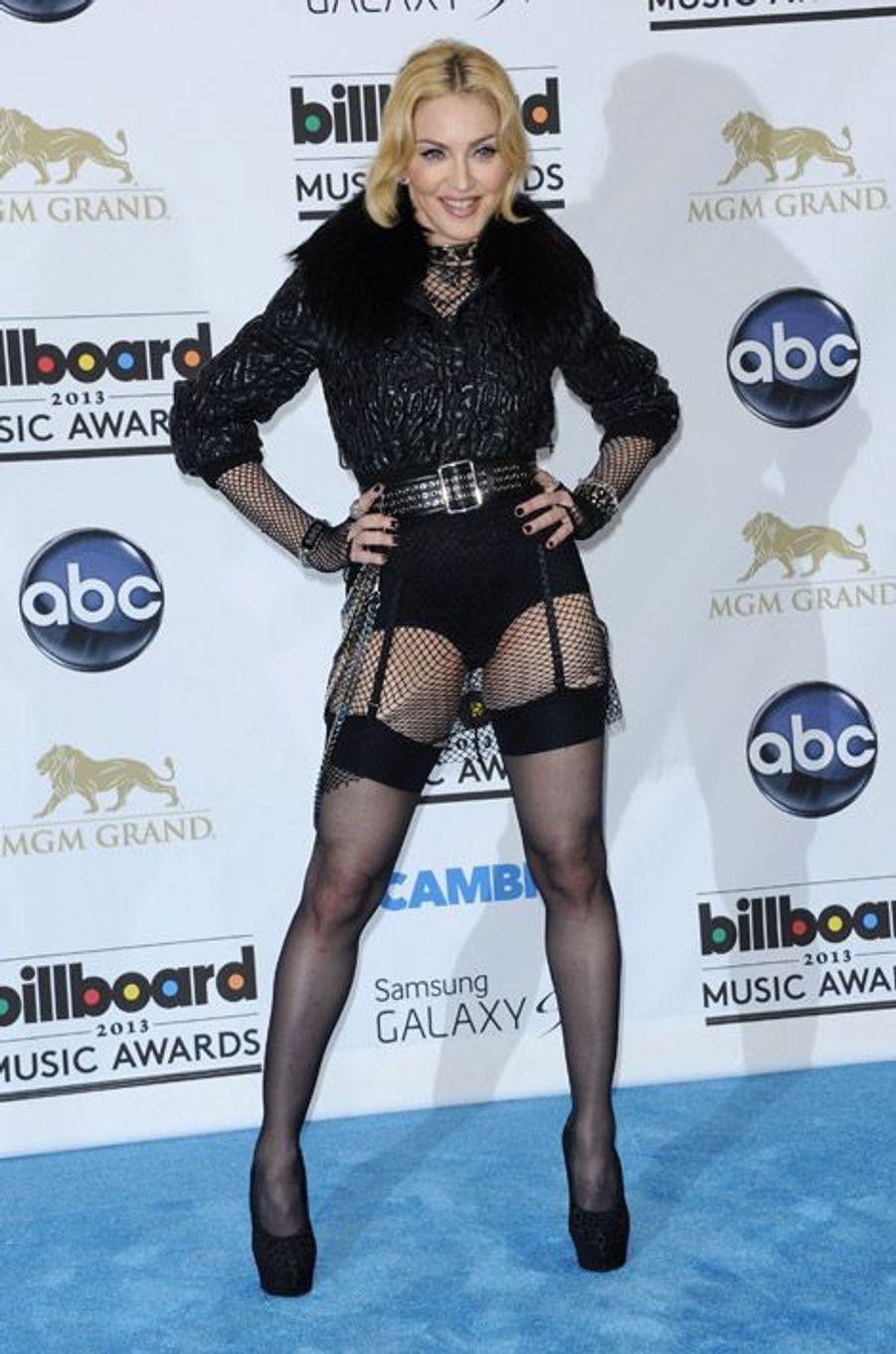 Madonna assiste à la soirée Billboard Music Awards 2013 à Las Vegas