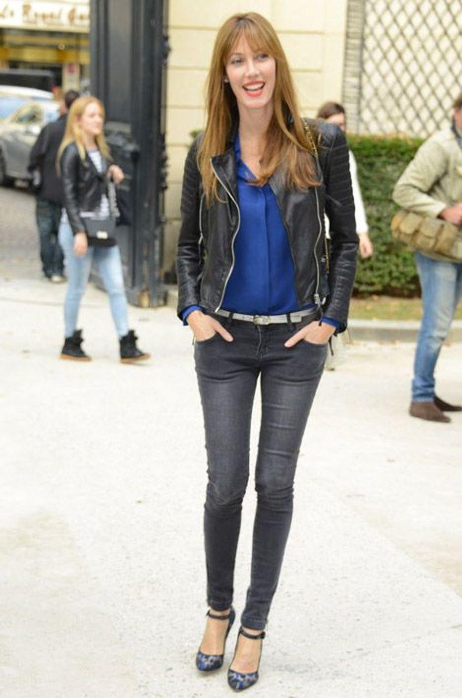 L'ex-Miss France, Mareva Galanter, au défilé Alexis Mabille printemps-été 2015 à l'hôtel Salomon de Rothschild à Paris, le 24 septembre 2014