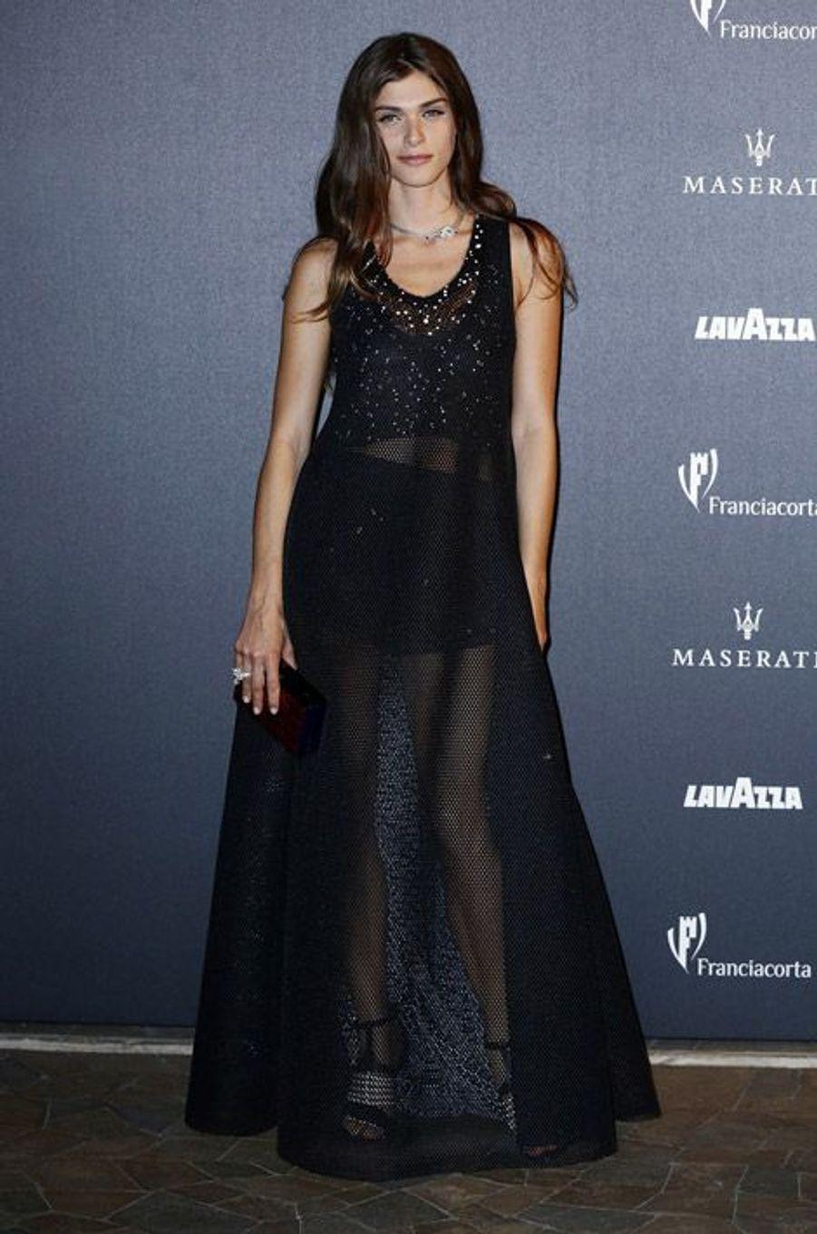 """Le mannequin et actrice franco-italien, Elisa Sednaoui, fête les 50 ans de """"Vogue Italie"""", le 21 septembre 2014"""