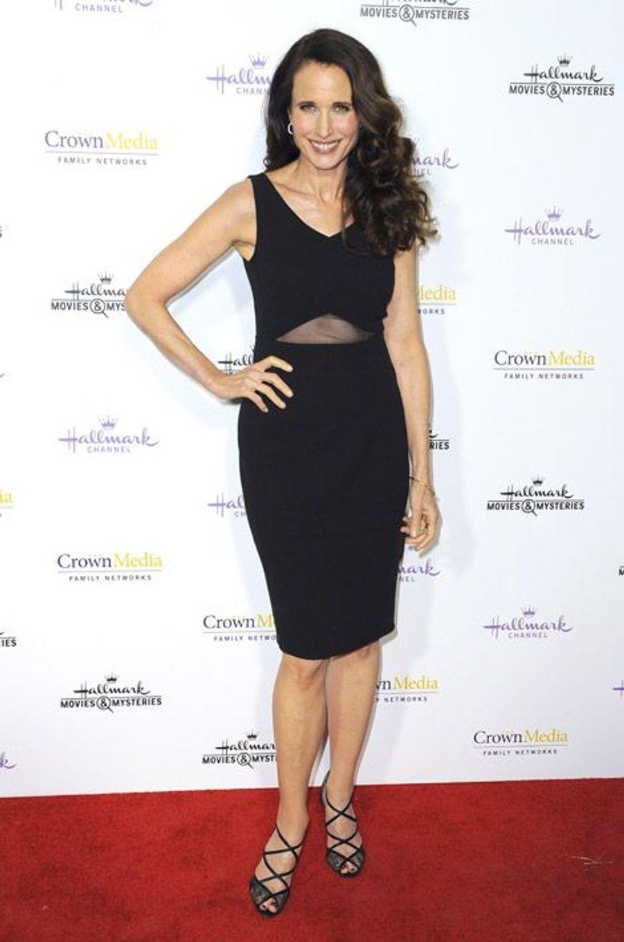 L'actrice Andie MacDowell lors d'une soirée à Los Angeles, le 8 janvier 2015