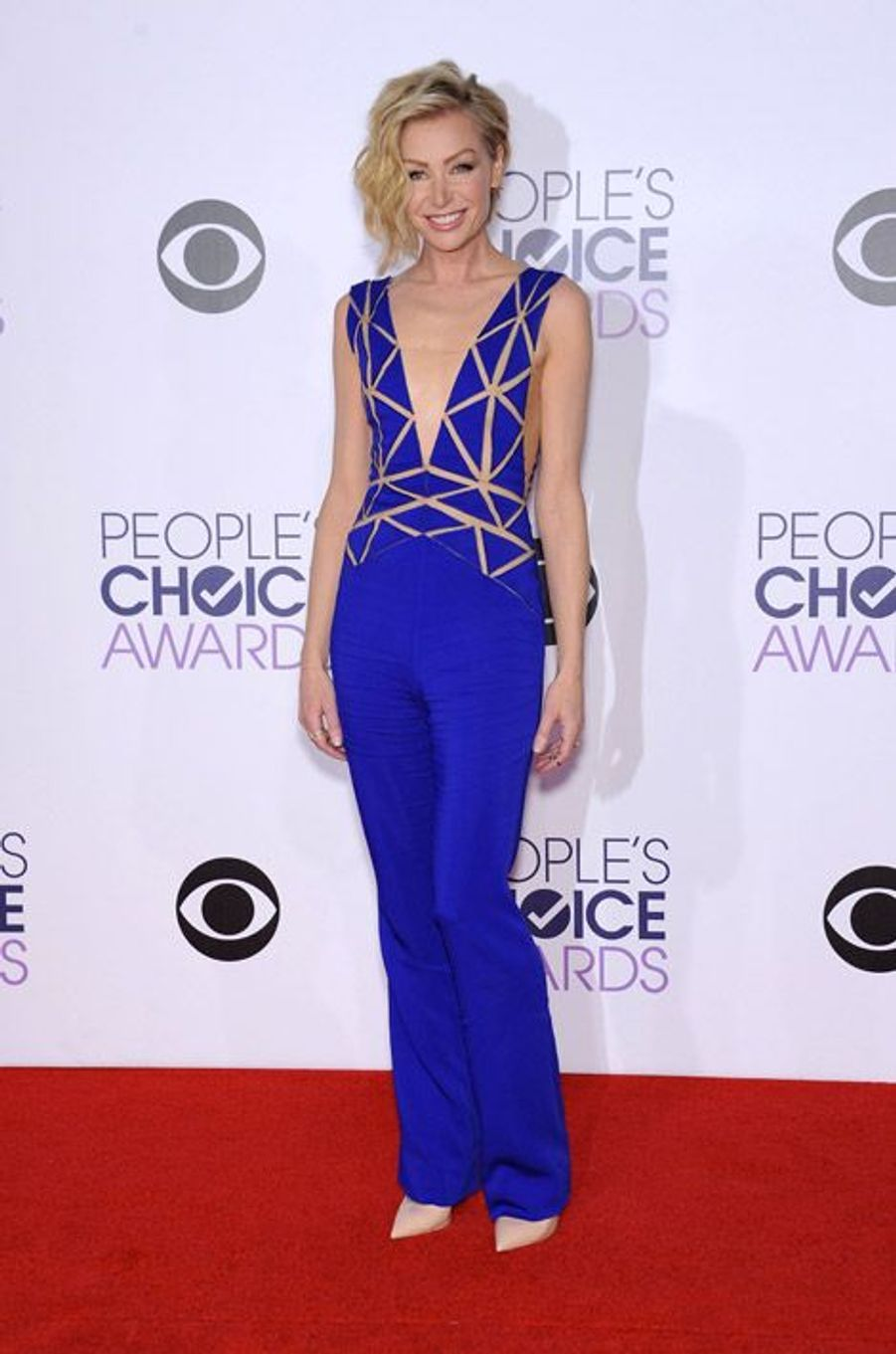L'actrice australienne Portia de Rossi, en Zuhair Murad lors de la cérémonie des People Choice Awards, le 7 janvier 2015