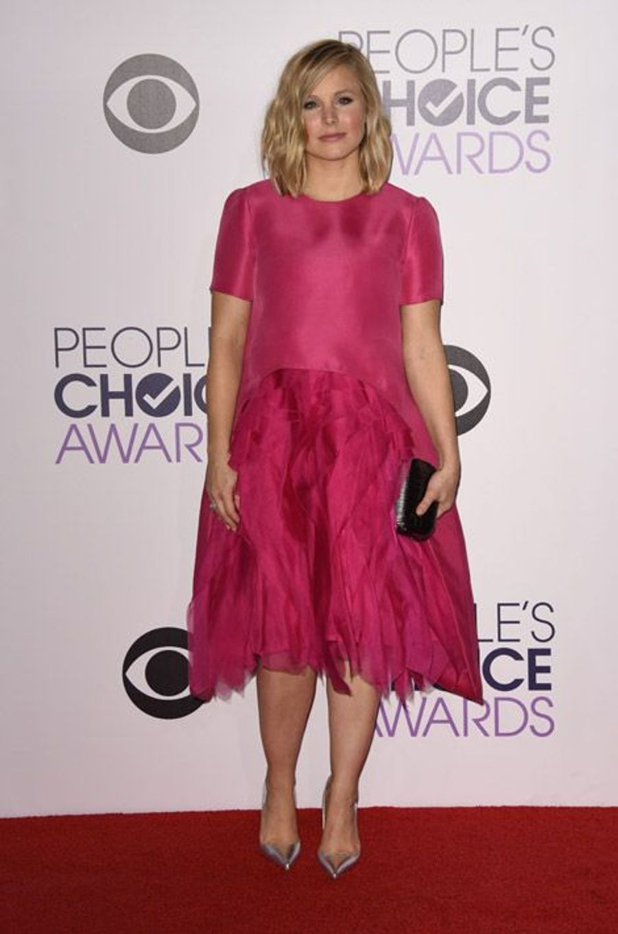 L'actrice Kristen Bell, en Monique Lhuillier lors de la cérémonie des People Choice Awards, le 7 janvier 2015