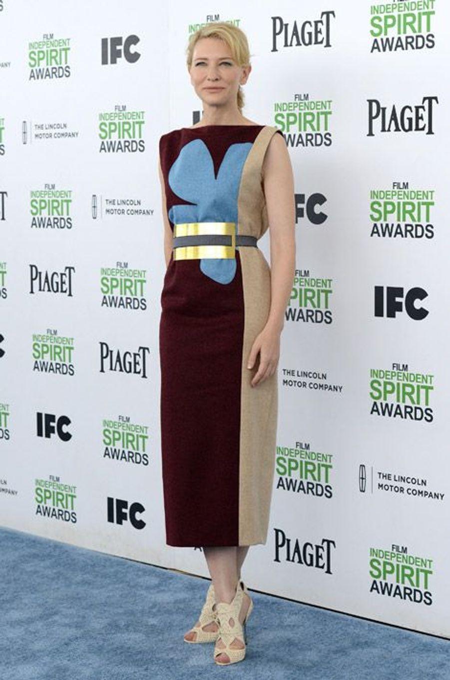 Cate Blanchett lors de la cérémonie Film independent spirit awards à Santa Monica, le 1er mars 2014