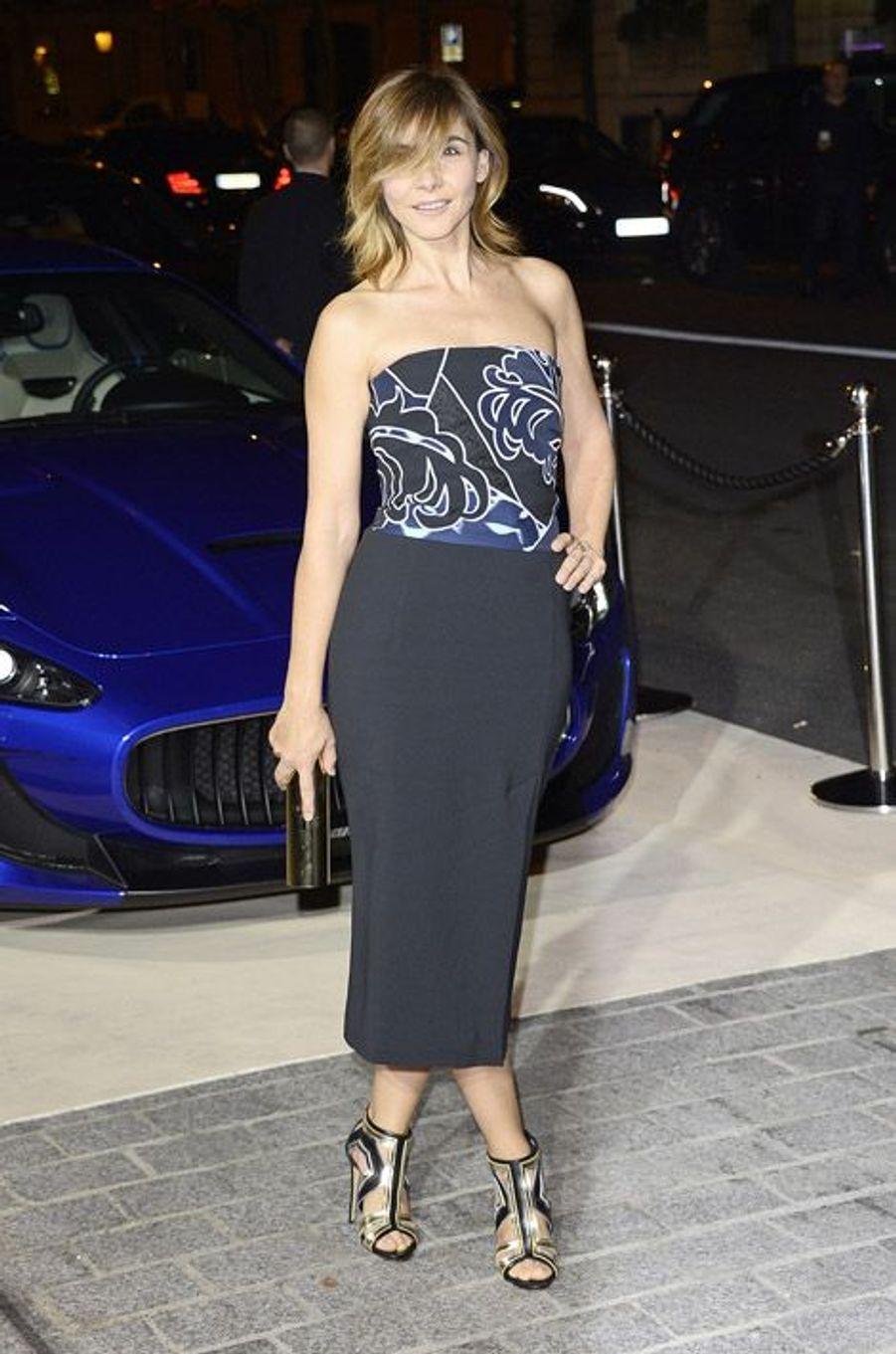 Clotilde Courau lors de la soirée CR Fashion Book à Paris, le 30 septembre 2014