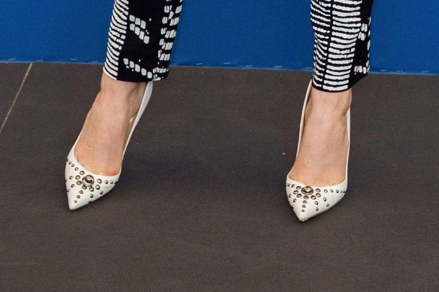 L'actrice Emma Stone en Christian Louboutin pendant la Mostra de Venise, le 27 août 2014