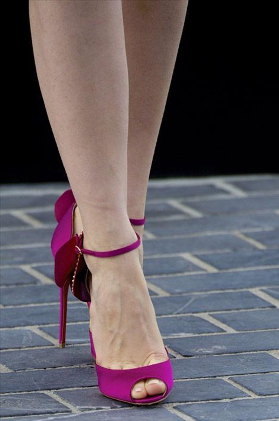 L'actrice Jessica Chastain en Christian Louboutin lors du festival du film de San Sebastian, le 23 septembre 2014