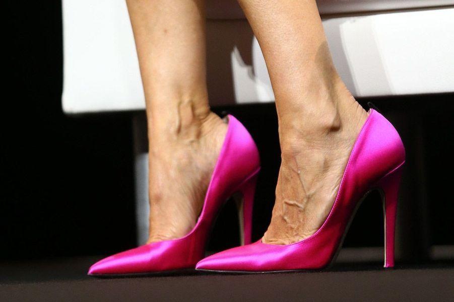 L'actrice Sarah Jessica Parker lors d'une conférence à Cannes, le 16 juin 2014