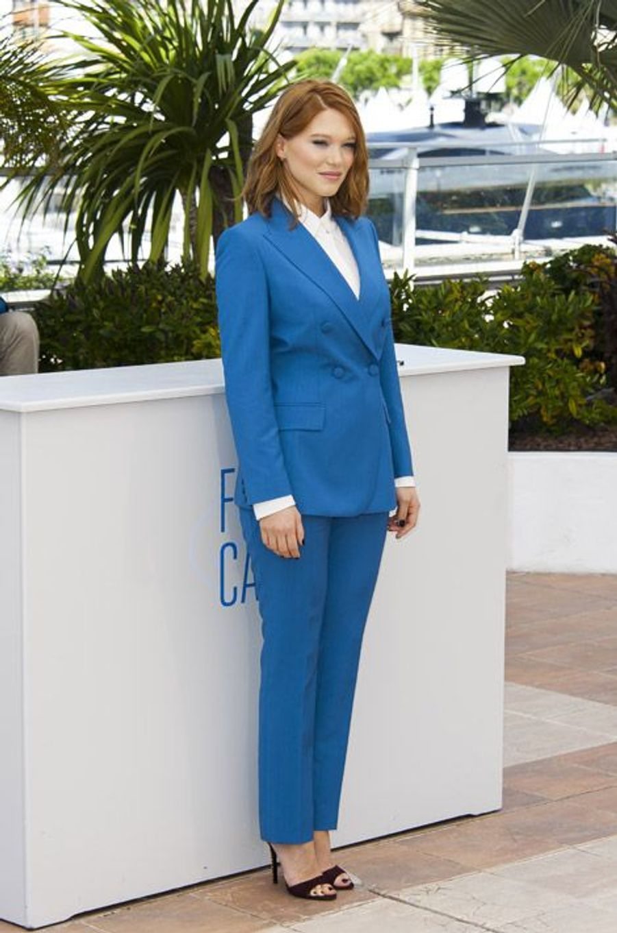 Léa Seydoux en Prada lors du Festival de Cannes, le 17 mai 2014
