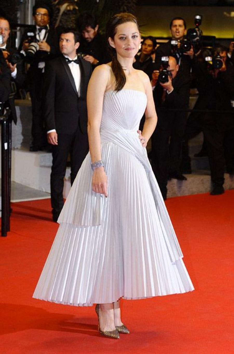 Marion Cotillard en Christian Louboutin lors du Festival de Cannes, le 21 mai 2014