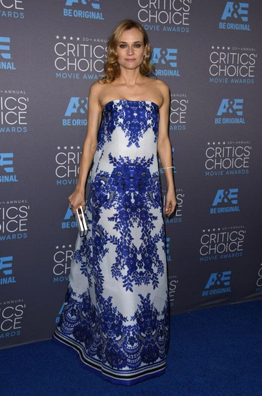 Diane Kruger en Naeem Khan lors de la cérémonie des Critics Choice Movie Awards à Los Angeles, le 15 janvier 2015