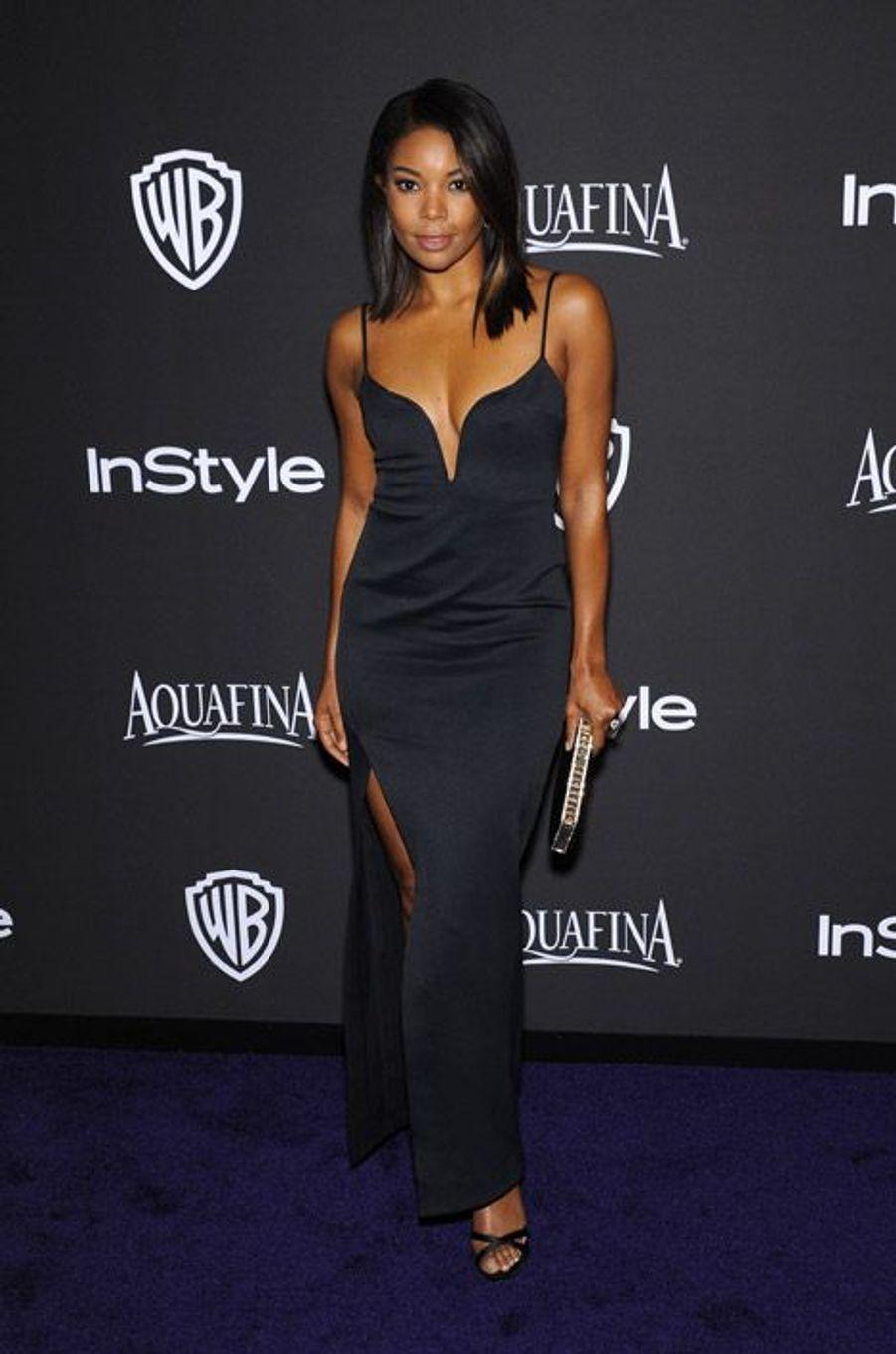 Gabrielle Union à la soirée InStyle organisée avant les Golden Globes, le 11 janvier 2015