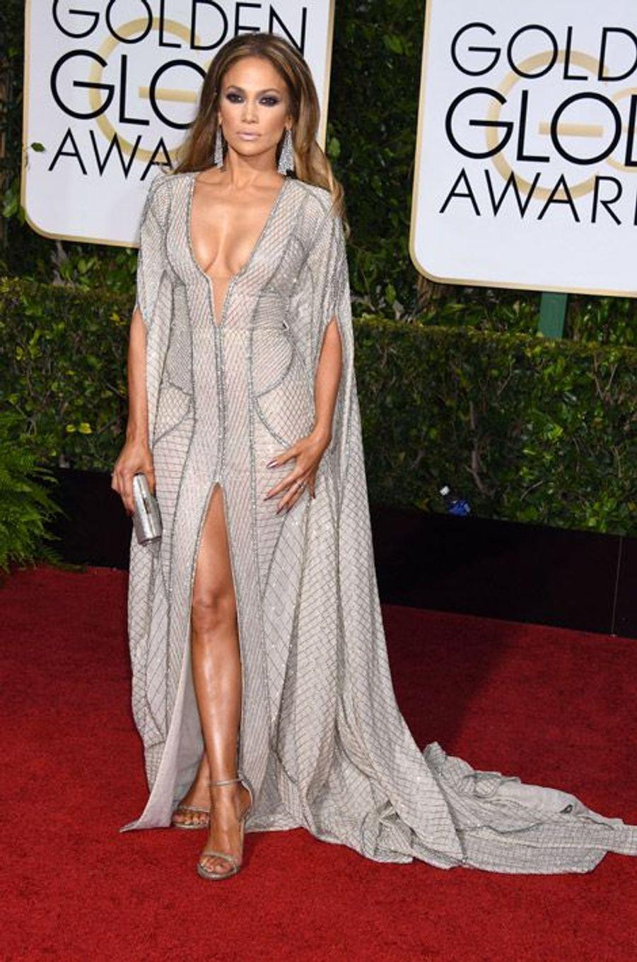 Jennifer Lopez en Zuhair Murad aux Golden Globes, le 11 janvier 2015
