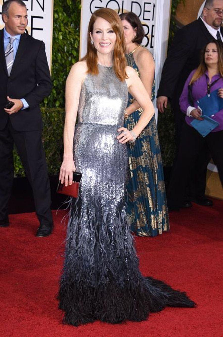 Julianne Moore en Givenchy Couture aux Golden Globes, le 11 janvier 2015