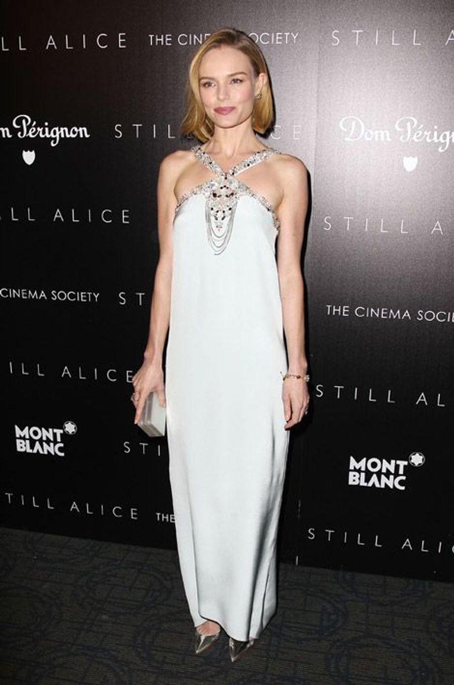 """Kate Bosworth en Oscar de la Renta pour la première de """"Still Alice"""" à New York, le 13 janvier 2015"""