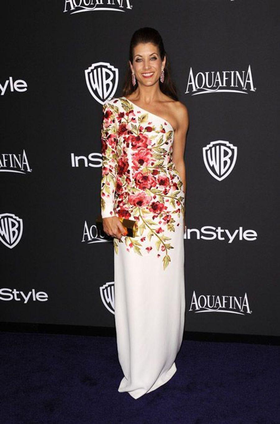 Kate Walsh à la soirée InStyle organisée avant les Golden Globes, le 11 janvier 2015