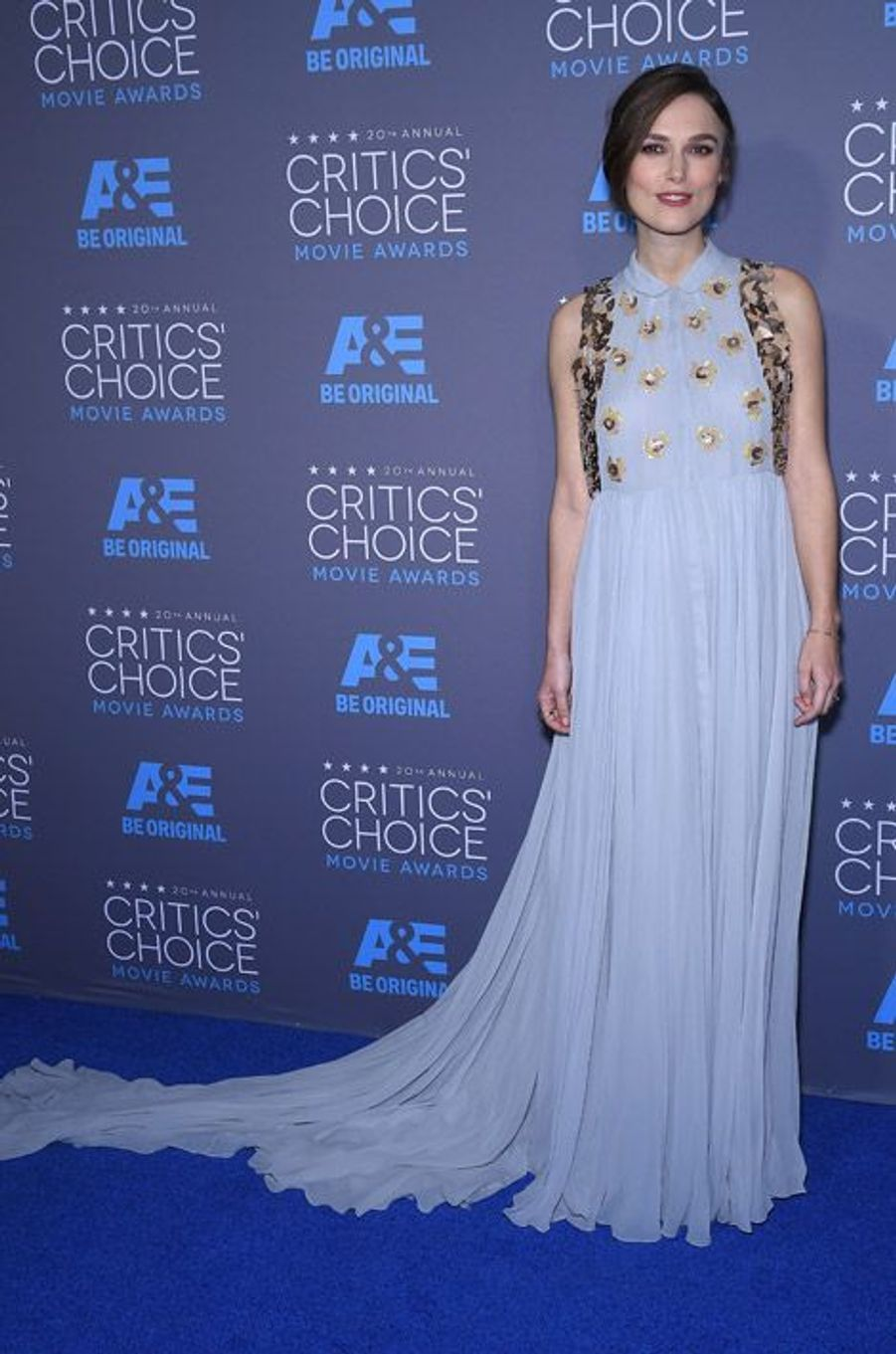 Keira Knightley en Delpozo lors de la cérémonie des Critics Choice Movie Awards à Los Angeles, le 15 janvier 2015