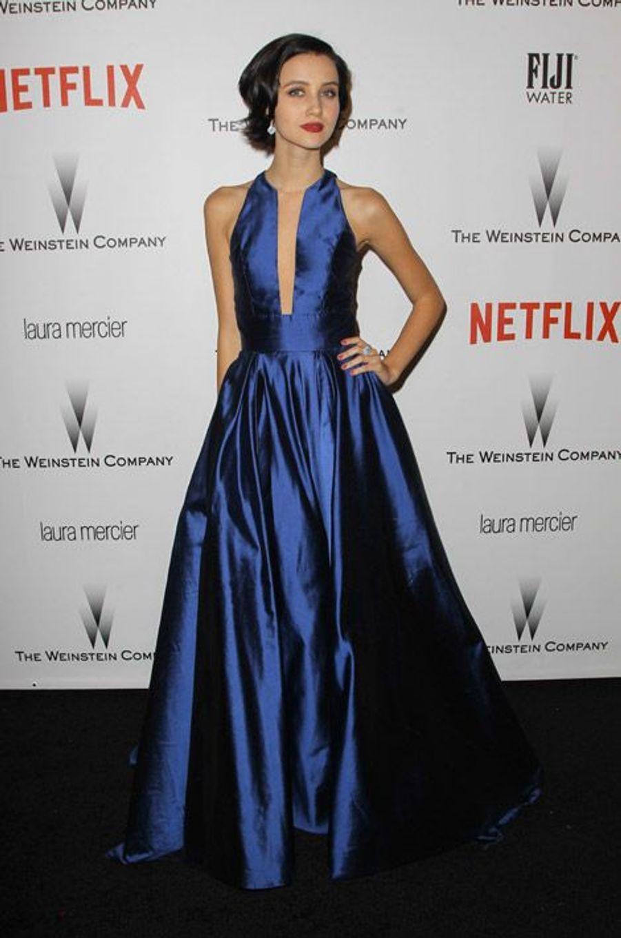 L'actrice brésilienne Julia Goldani lors de la soirée Wainstein Company, après la cérrémonie des Golden Globes, le 11 janvier 2015