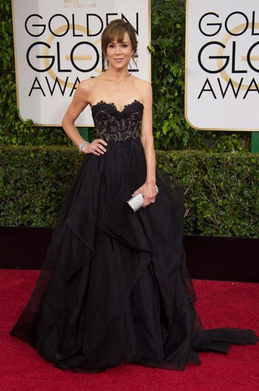 L'actrice Frances O'Connor aux Golden Globes, le 11 janvier 2015