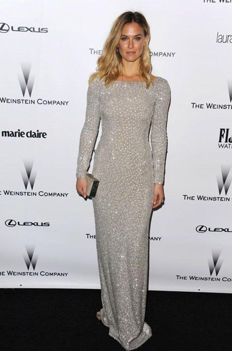 Le mannequin Bar Refaeli lors de la soirée Wainstein Company, après la cérrémonie des Golden Globes, le 11 janvier 2015