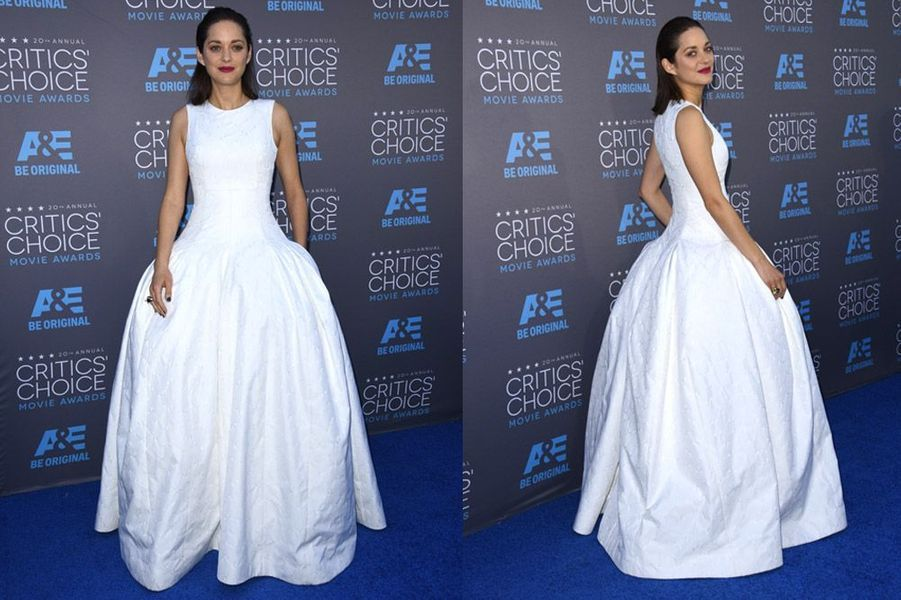 Marion Cotillard en Christian Dior lors de la cérémonie des Critics Choice Movie Awards à Los Angeles, le 15 janvier 2015