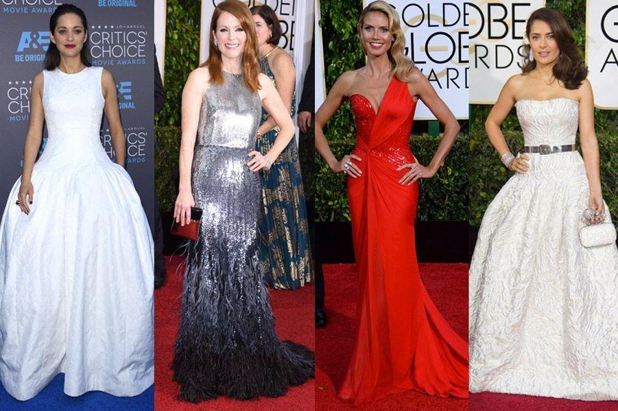 Marion Cotillard, Julianne Moore, Heidi Klum, Selma Hayek : les plus beaux looks de la semaine