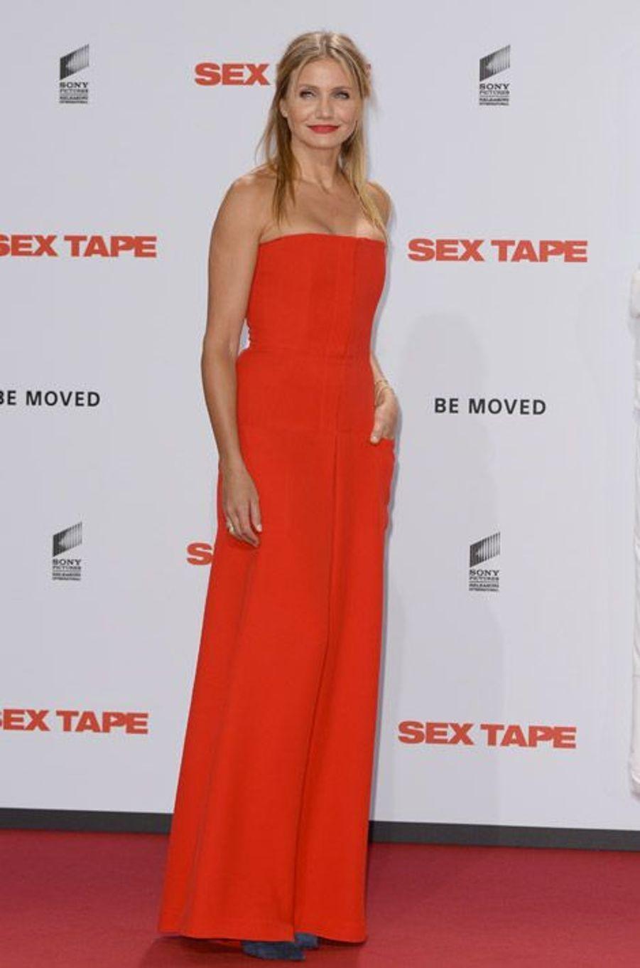 """L'actrice Cameron Diaz lors de la première du film """"Sex Tape"""", le 5 septembre 2014 à Berlin"""
