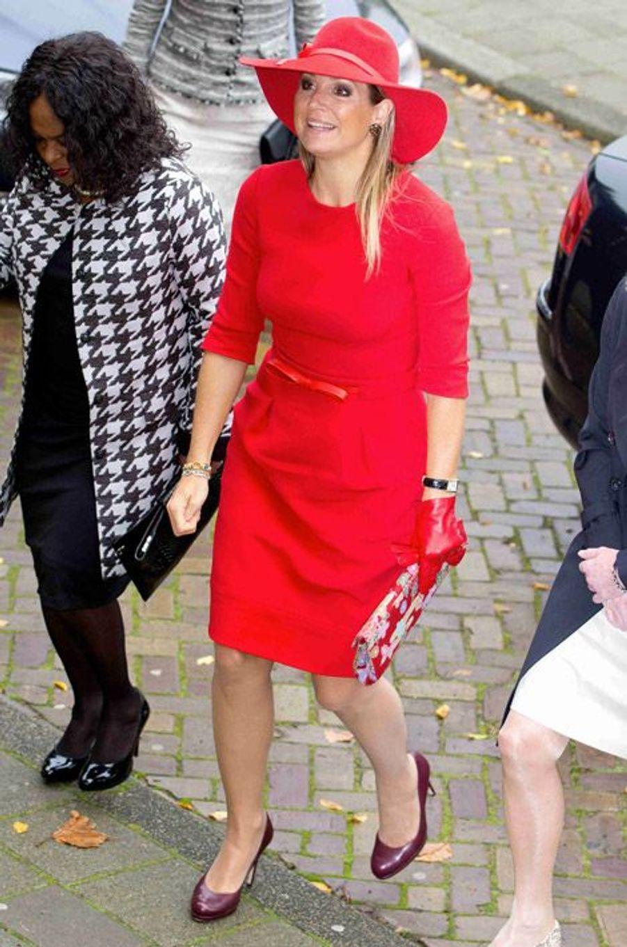 La reine Maxima des Pays-Bas à Amsterdam, le 14 octobre 2014