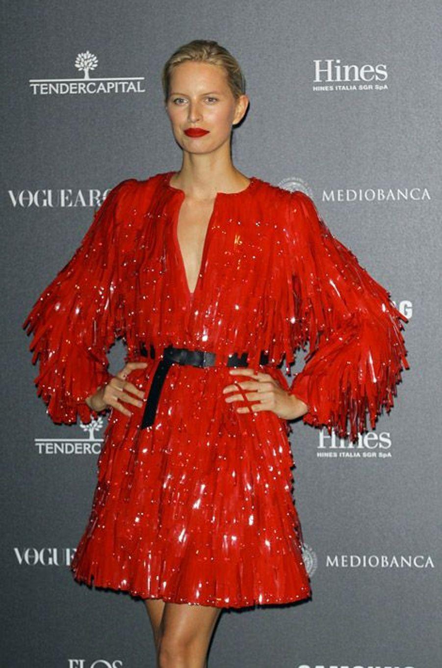 Le mannequin Karolina Kurkova fête les 50 ans de Vogue Italie à Miami le 21 septembre 2014