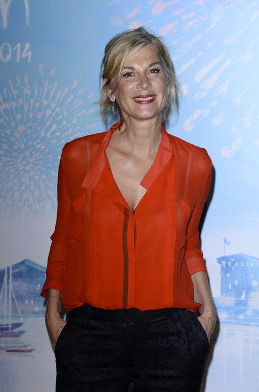Michèle Laroque au Festival télé de La Rochelle, le 13 septembre 2014