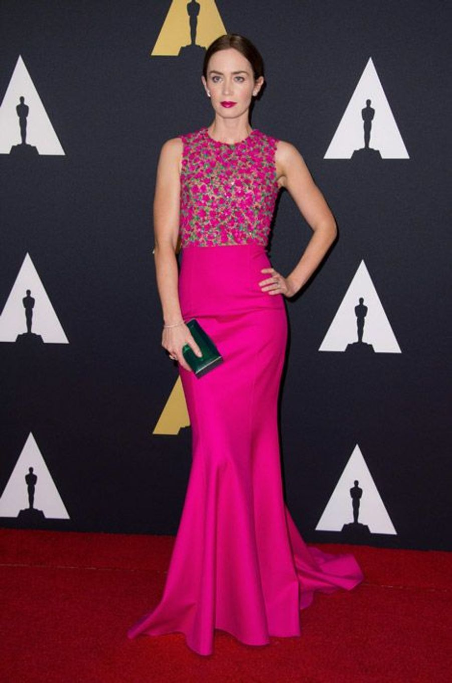 L'actrice Emily Blunt en Michael Kors lors du 6eme gala Annual Governors Awards à Hollywood