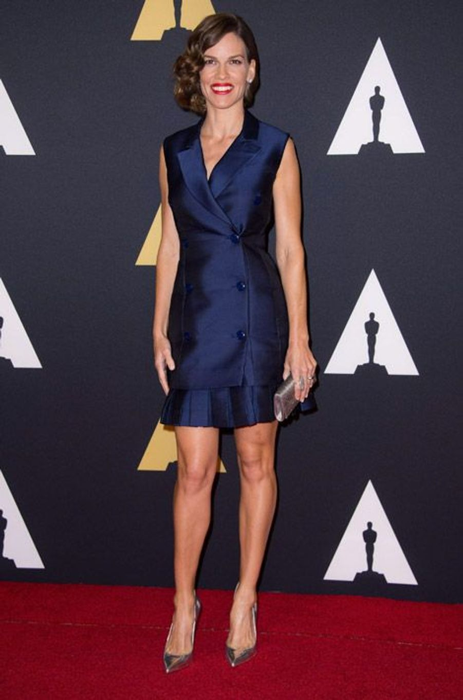 L'actrice Hilary Swank en Antonio Berardi lors du 6eme gala Annual Governors Awards à Hollywood