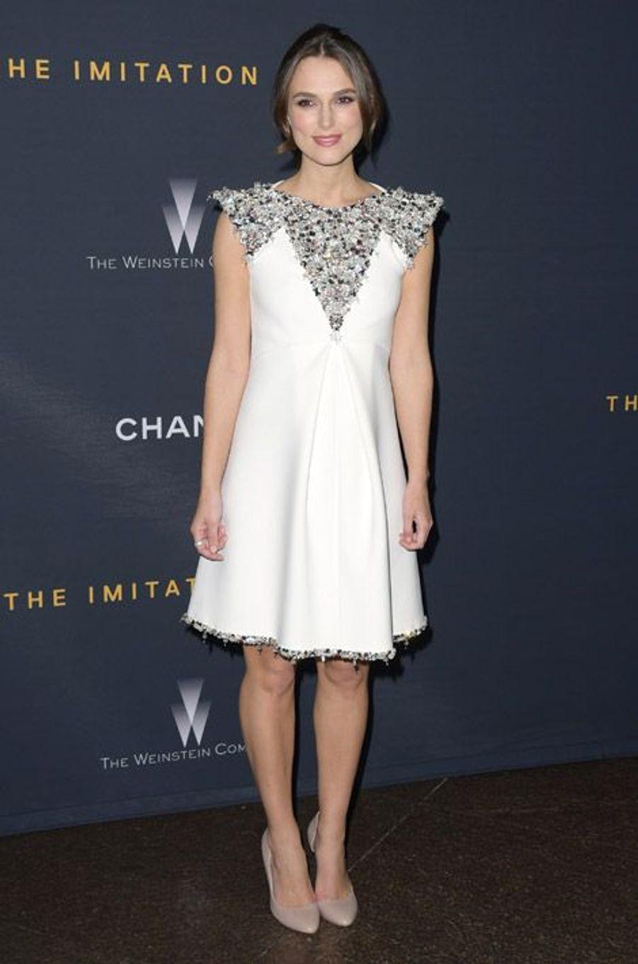 """L'actrice Keira Knightley en Chanel Couture lors de la projection du film """"The Imitation Game"""" à Los Angeles, le 10 novembre 2014"""