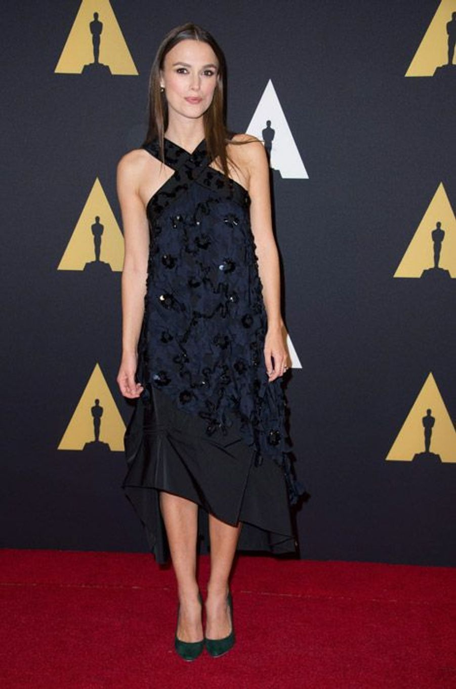 L'actrice Keira Knightley en Nina Ricci lors du 6eme gala Annual Governors Awards à Hollywood