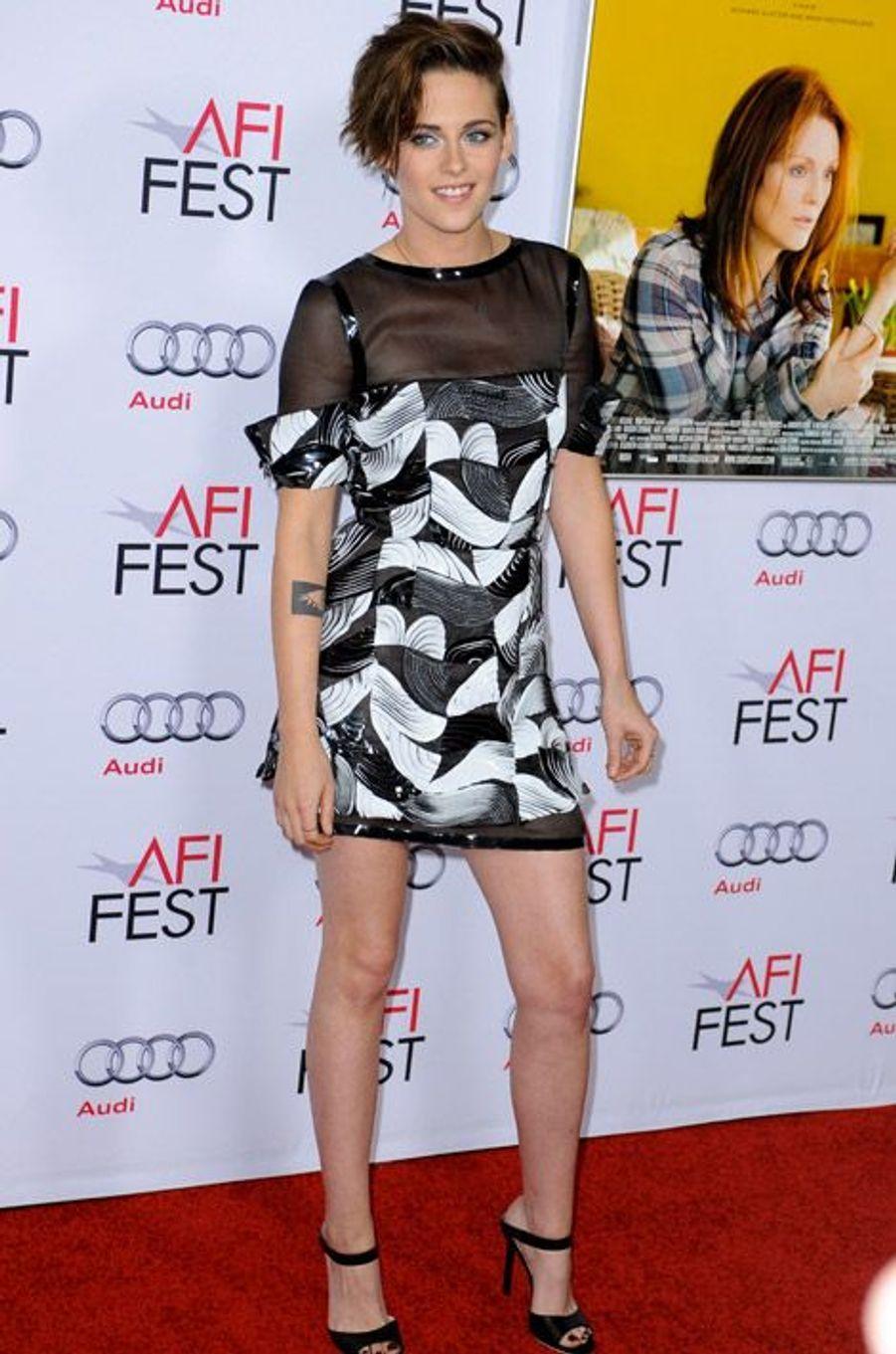 """L'actrice Kristen Stewart lors de la projection du film """"Still Alice"""" à Los Angeles, le 12 novembre 2014"""