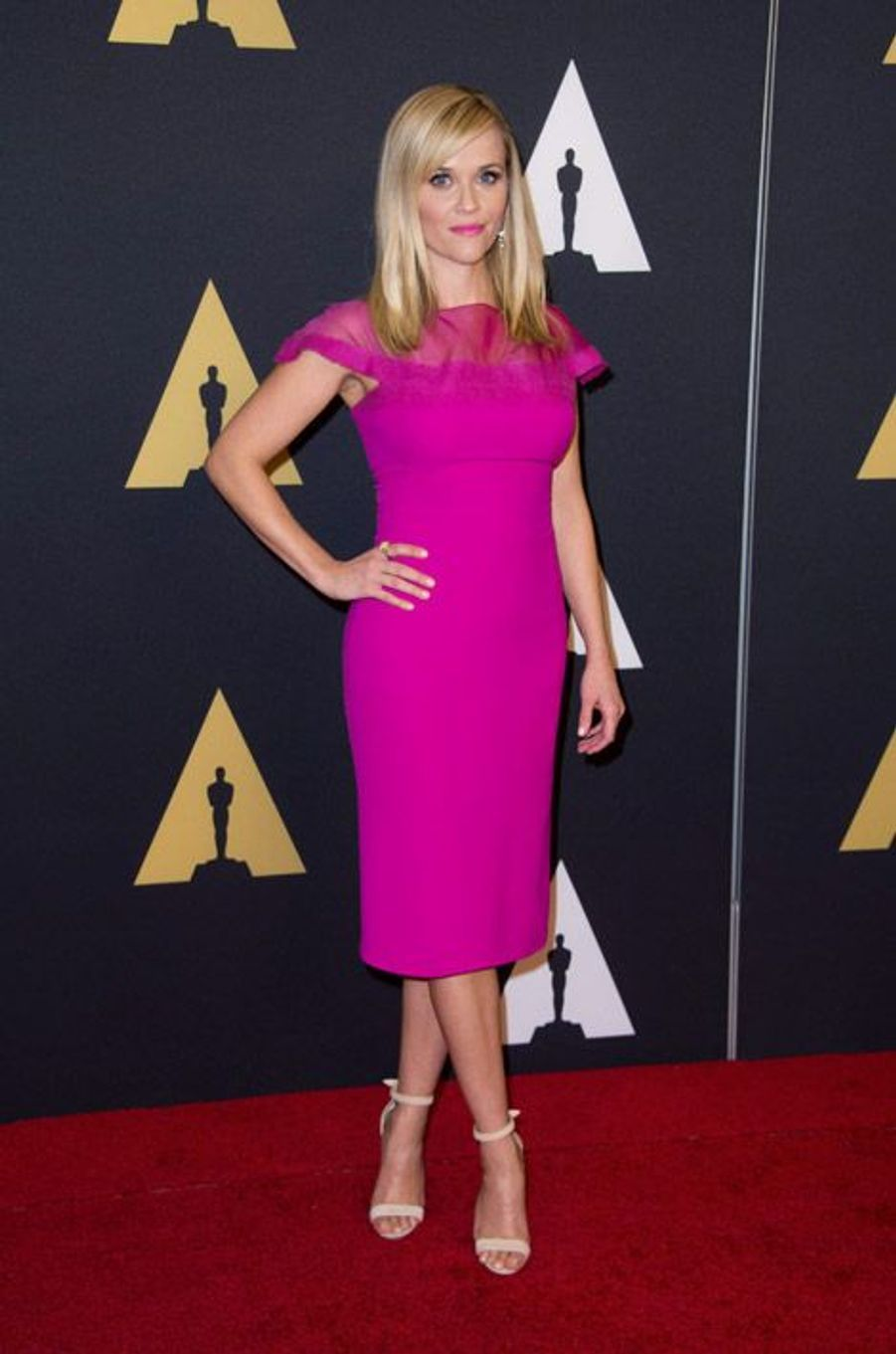 L'actrice Reese Witherspoon en Ralph Lauren lors du 6eme gala Annual Governors Awards à Hollywood