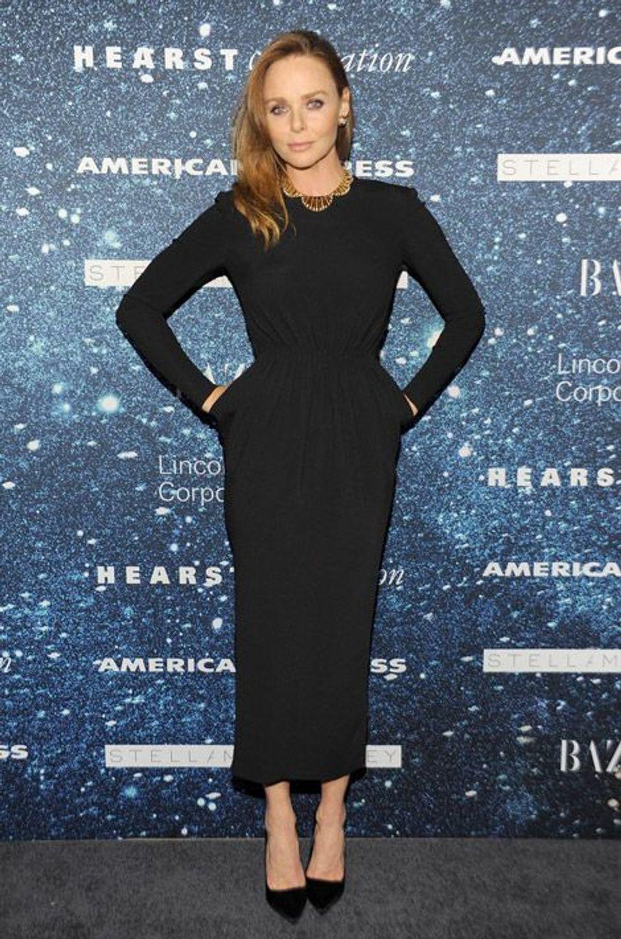 La créatrice Stella McCartney lors d'une soirée en son honneur à New York, le 13 novembre 2014