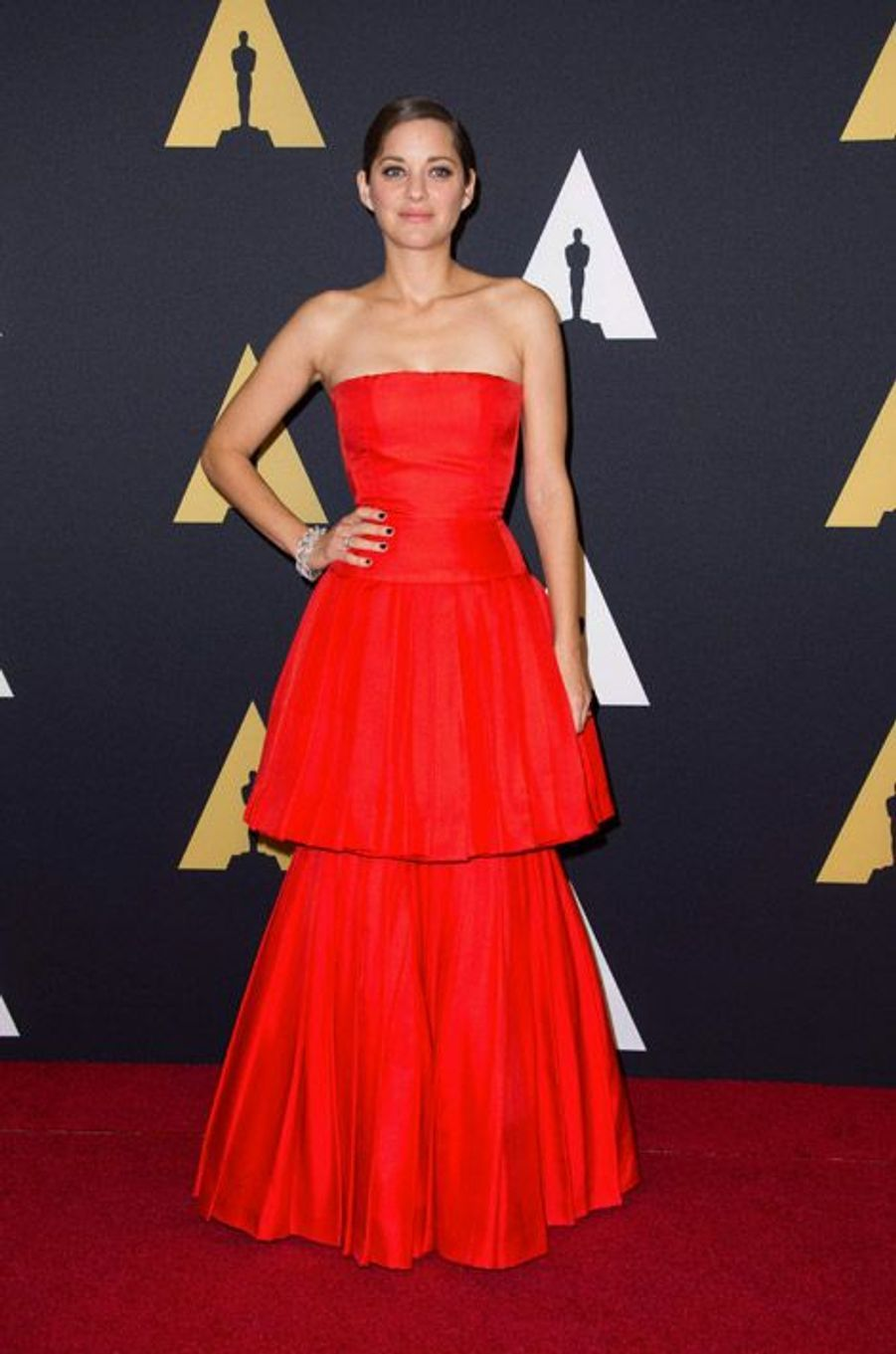Marion Cotillard en Christian Dior Couture lors du 6eme gala Annual Governors Awards à Hollywood