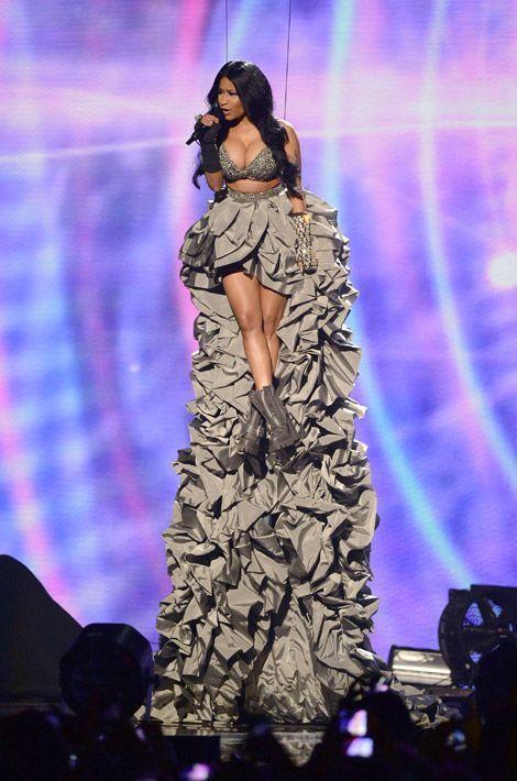 La chanteuse Nicki Minaj lors des MTV Europe Music Awards à Glasgow, le 9 novembre 2014