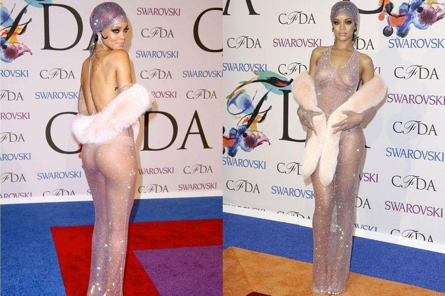 La chanteuse Rihanna en Adam Selmain est récompensée par le Conseil des designers américains, le 2 juin 2014