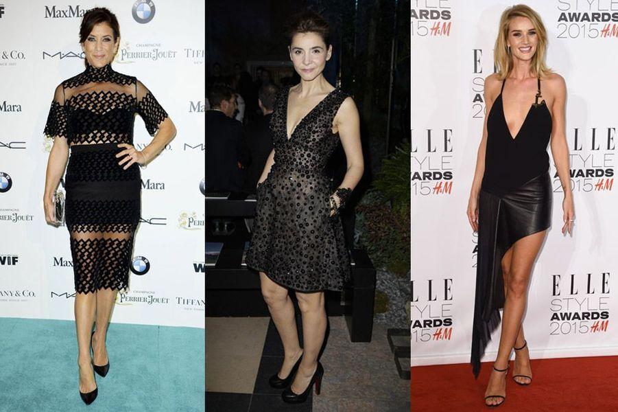 Tendance 2015: la petite robe noire irremplaçable pour Kate Walsh, Clotilde Courau et Rosie Huntington-Whiteley (Anthony Vaccarello)