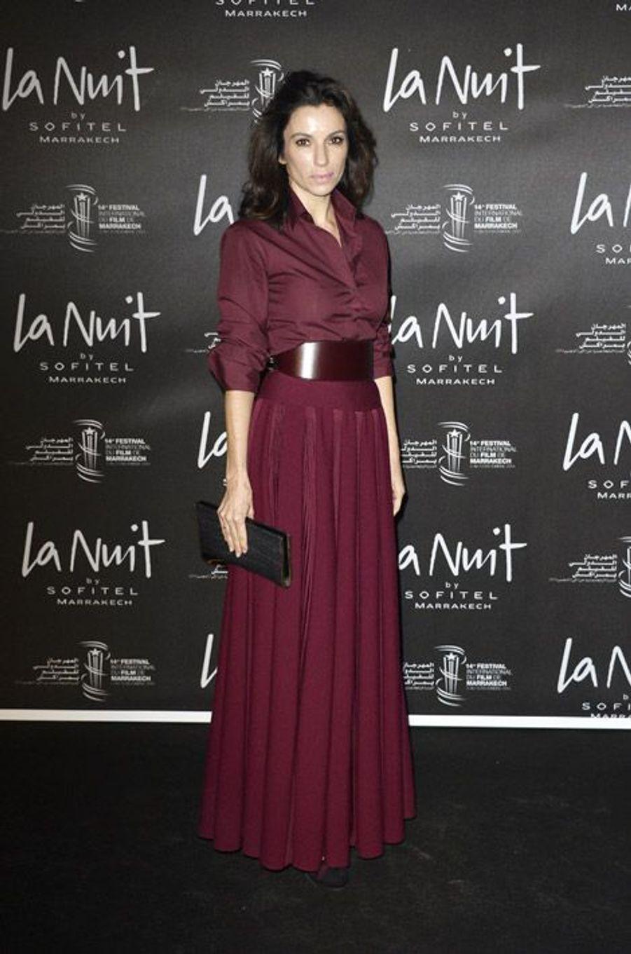 L'actrice Aure Atika lors du festival international du film de Marrakech le 5 décembre 2014