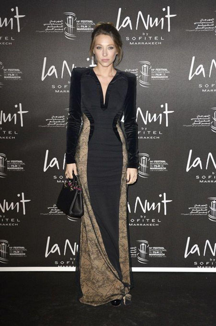L'actrice Laura Smet lors du festival international du film de Marrakech le 5 décembre 2014