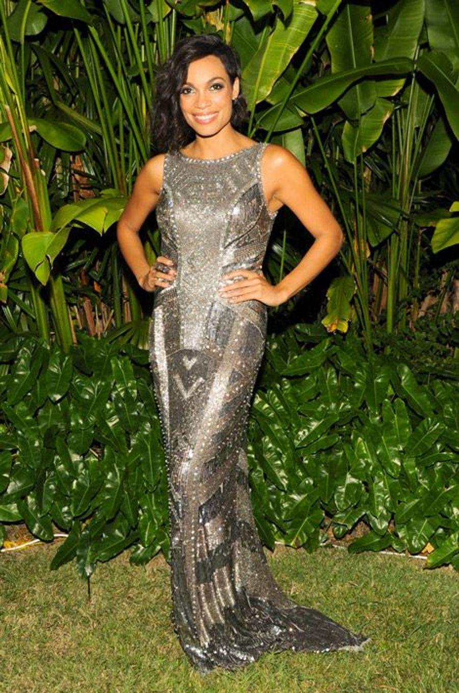 L'actrice Rosario Dawson lors d'une soirée à Miami, le 5 décembre 2014