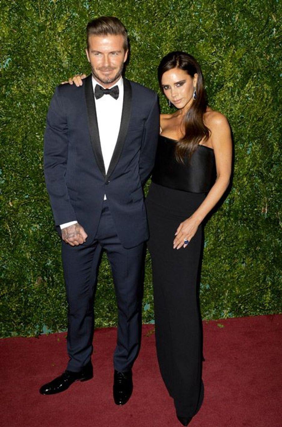 """Victoria et David Beckham à la soirée """"London Evening Standard Awards"""" à Londres, le 30 novembre 2014"""